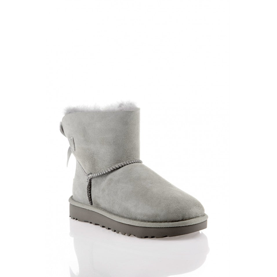 UGG Boots Original MINI BAILEY BOW for Women Grey Color Warm Lining 100% Borrego Shoes Women Women Ugg boots - Ohboyee's market place