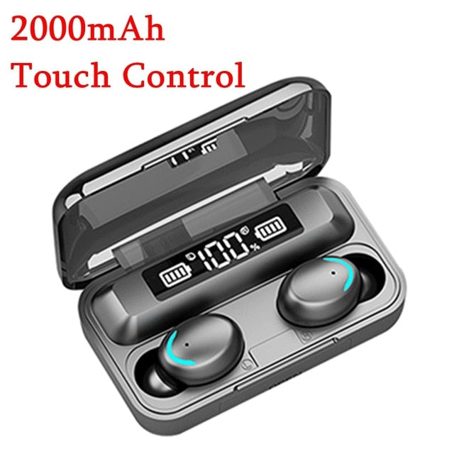 TWS Wireless Earphones Waterproof 6D Stereo Headsets Bluetooth 5.0 Touch Control Earbuds 300mAh Powerbank Headset With Mic