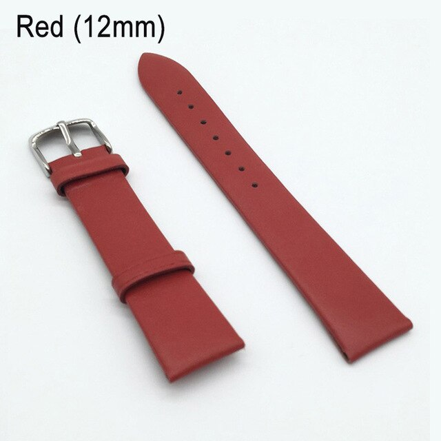 12/14/16/18/20/22mm Watch Band Strap Cow Leather Replacement Watchband for Men Women LL@17