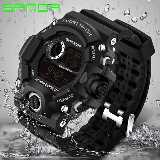 SANDA Brand Watches Men Waterproof Outdoor Digital Sport Watch Men Electronic G Style Shock Wrist Watch Male Clock