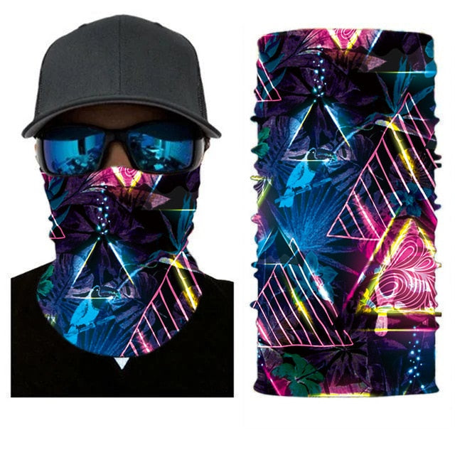 Solid and Printed Cycling Bandanas buffe Tube Scarf Neck Warmer Multi Function Headband Face Headwear Moto Bicycle Hijab Mask