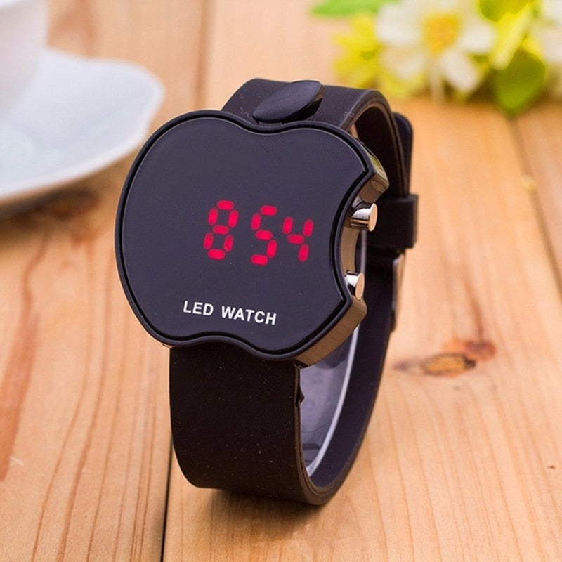 2018 New Soft Silicone Sports Watch Women Series Wristband LED Watch