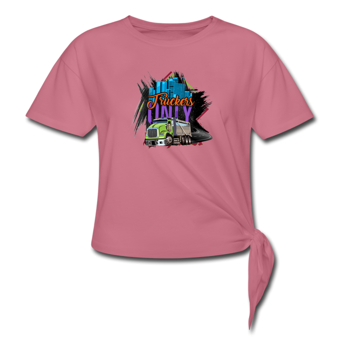Truckers Only Women's Knotted T-Shirt - Ohboyee's market place