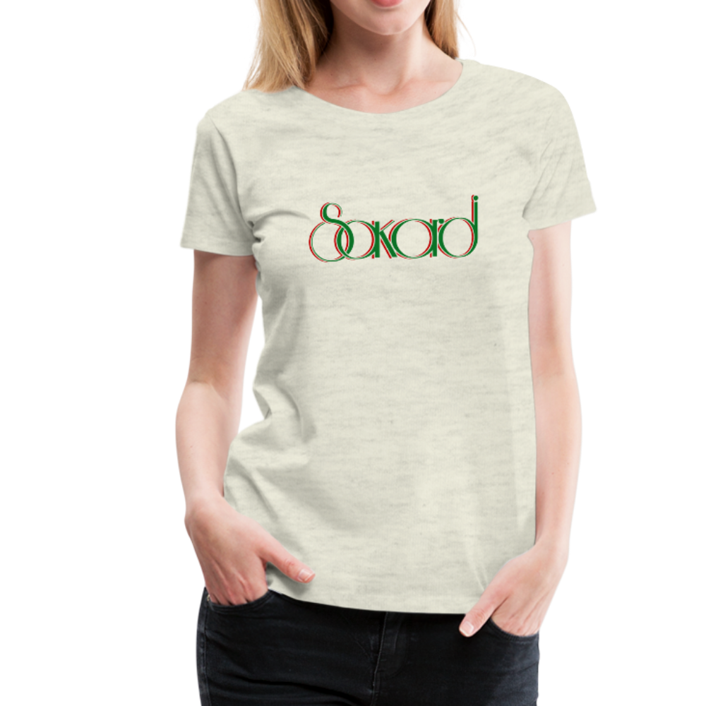Women's Sakardi Premium T-Shirt - heather oatmeal