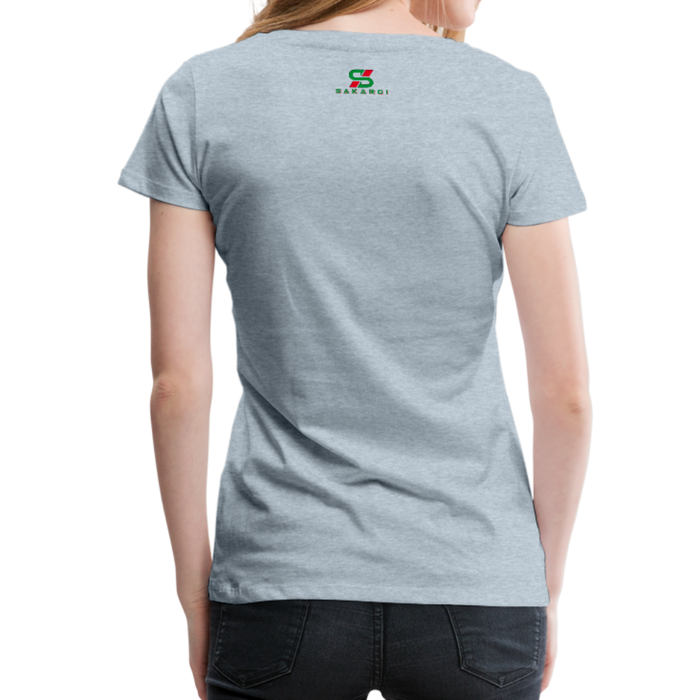 Women's Sakardi Premium T-Shirt - heather ice blue