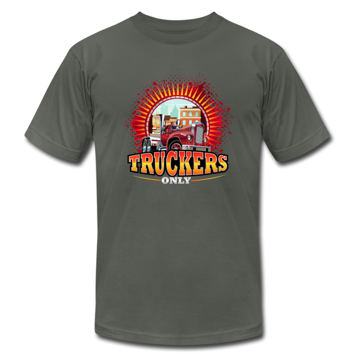 Truckers Only unisex Jersey T-Shirt by Bella - asphalt