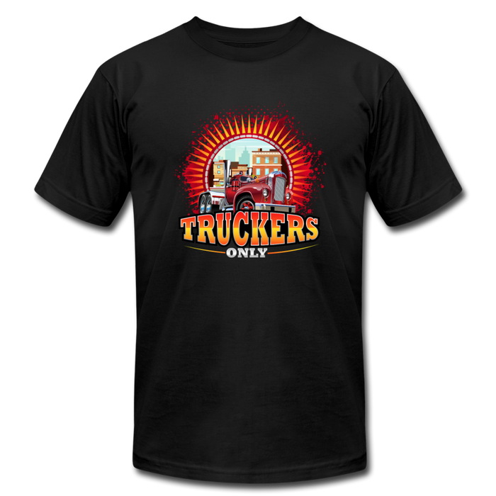 Truckers Only unisex Jersey T-Shirt by Bella - black