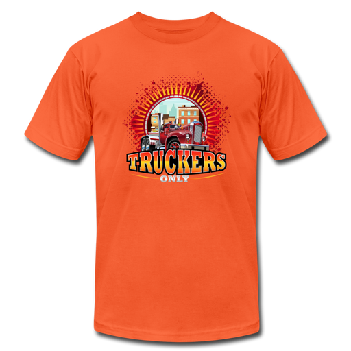 Truckers Only unisex Jersey T-Shirt by Bella - orange