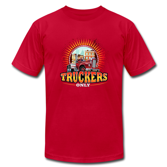 Truckers Only unisex Jersey T-Shirt by Bella - red