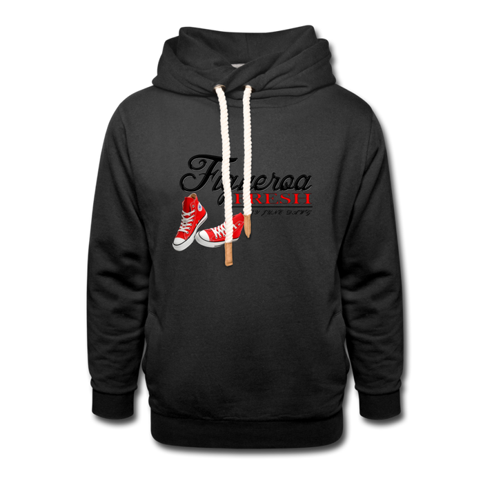 Fresh Wear Collar Hoodie - black