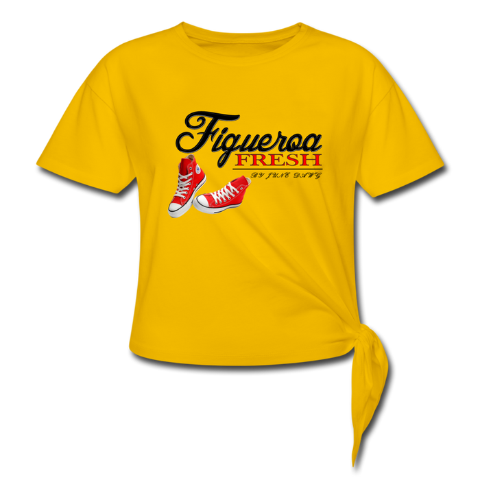 Women's Fresh Wear Knotted T-Shirt - sun yellow