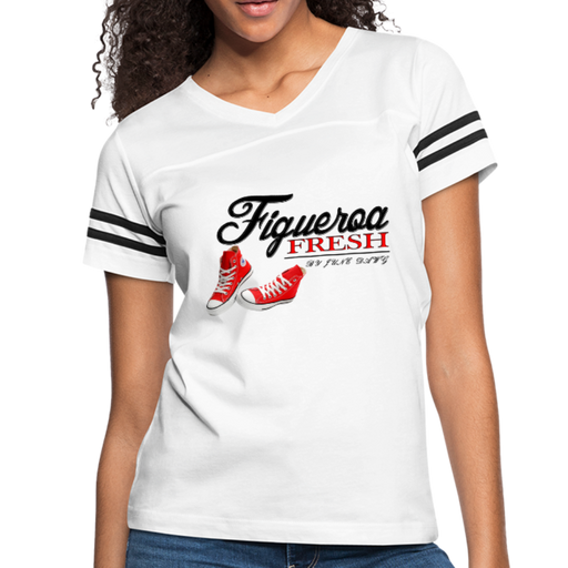 Women's Fresh Wear Vintage Sport T-Shirt - white/black