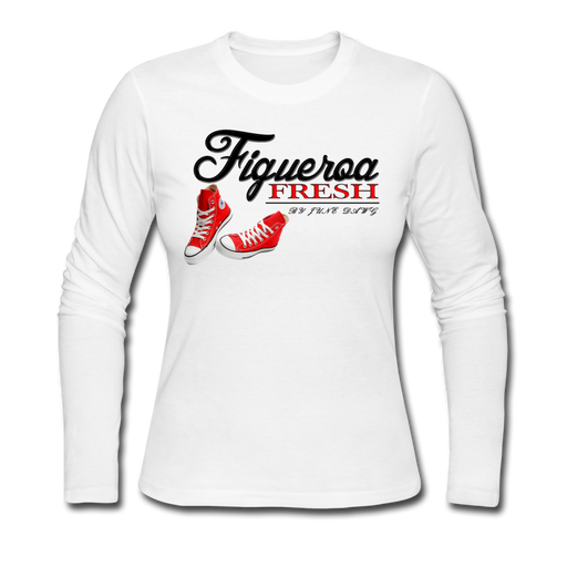 Women's Fresh Wear Long Sleeve Jersey T-Shirt - white