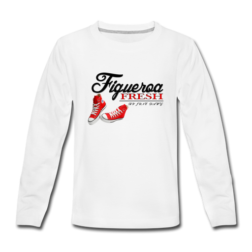 Kids' Fresh Wear Premium Long Sleeve T-Shirt - white