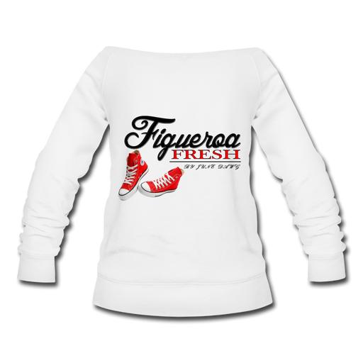 Women's Fresh Wear Wideneck Sweatshirt - white