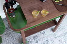 Load image into Gallery viewer, Jolly Trolly Bar Cart - Walnut / Olive - * Ready to Ship *