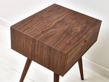 Load image into Gallery viewer, Classic Mid-Century Modern Solid Black Walnut Side Table, End Table, Nightstand by Wake the Tree Furniture Co.