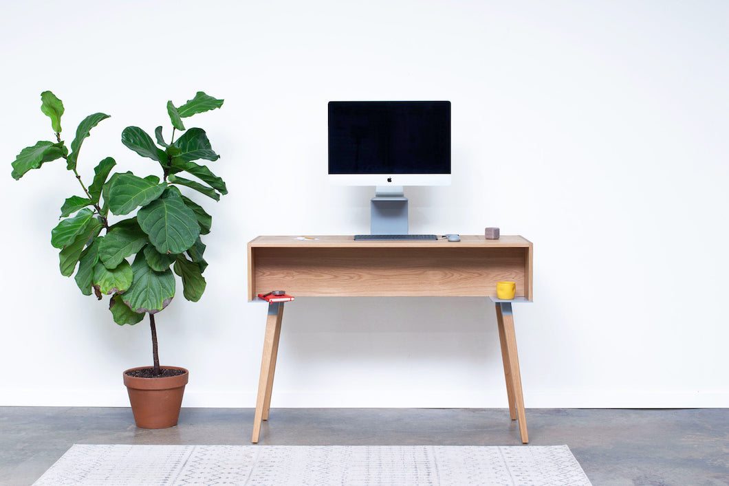 Standing Room Desk - Oak / Gray - * Ready to Ship *