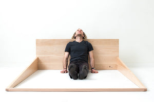 Minimal Modern Scandinavian Floor Bed, Handmade from Solid Maple | Wake the Tree Furniture Co.