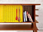 Load image into Gallery viewer, Mid-Century Modern Pegboard Kitchen Island Prep Station | Wake the Furniture Co.
