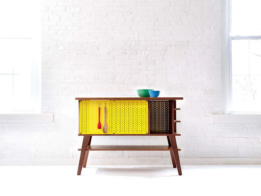 Mid-Century Modern Pegboard Kitchen Island Prep Station | Wake the Furniture Co.