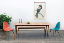Load image into Gallery viewer, Sunny Side Up Dining Table 2.0 - Large Rectangular Oak / Wine - * Ready to Ship *