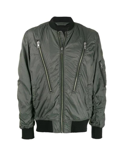 Diesel J-TOSHIO Bomber Jacket With Large Zipped Pockets