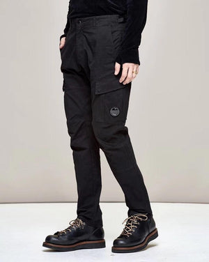 CP Company Garment Dyed Sateen Lens Pocket Pants