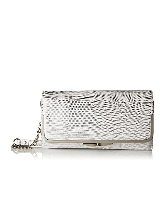 Nine West Glitter Mob Wallet On A Chain White - Fashionbarn shop - 2