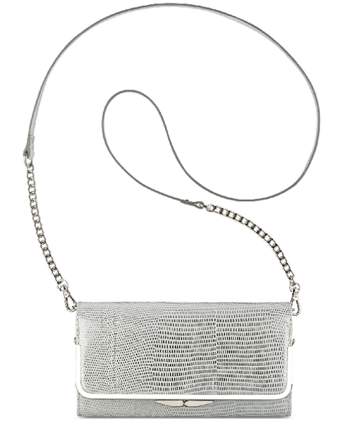 Nine West Glitter Mob Wallet On A Chain White - Fashionbarn shop - 1