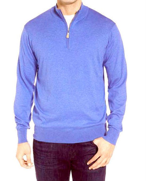Canali Cotton Half-Zip Sweater