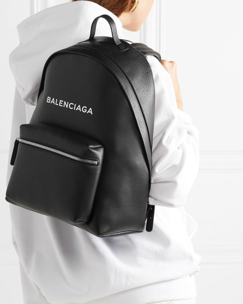 Balenciaga printed textured-leather backpack
