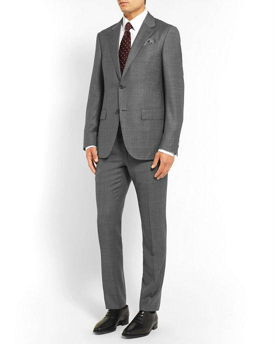 Ermenegildo Zegna Men's Gray houndstooth Two-Piece Suit