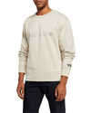 Y-3 Men's Distressed Signature Crewneck Sweatshirt