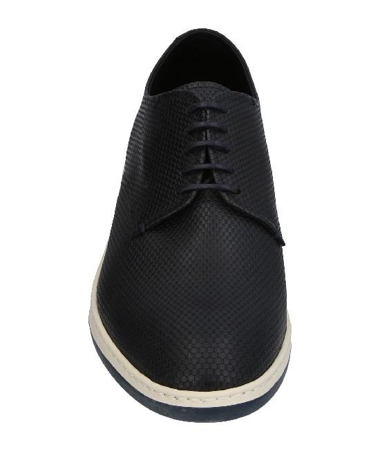GIORGIO ARMANI Perforated Suede Derby Shoe, Black