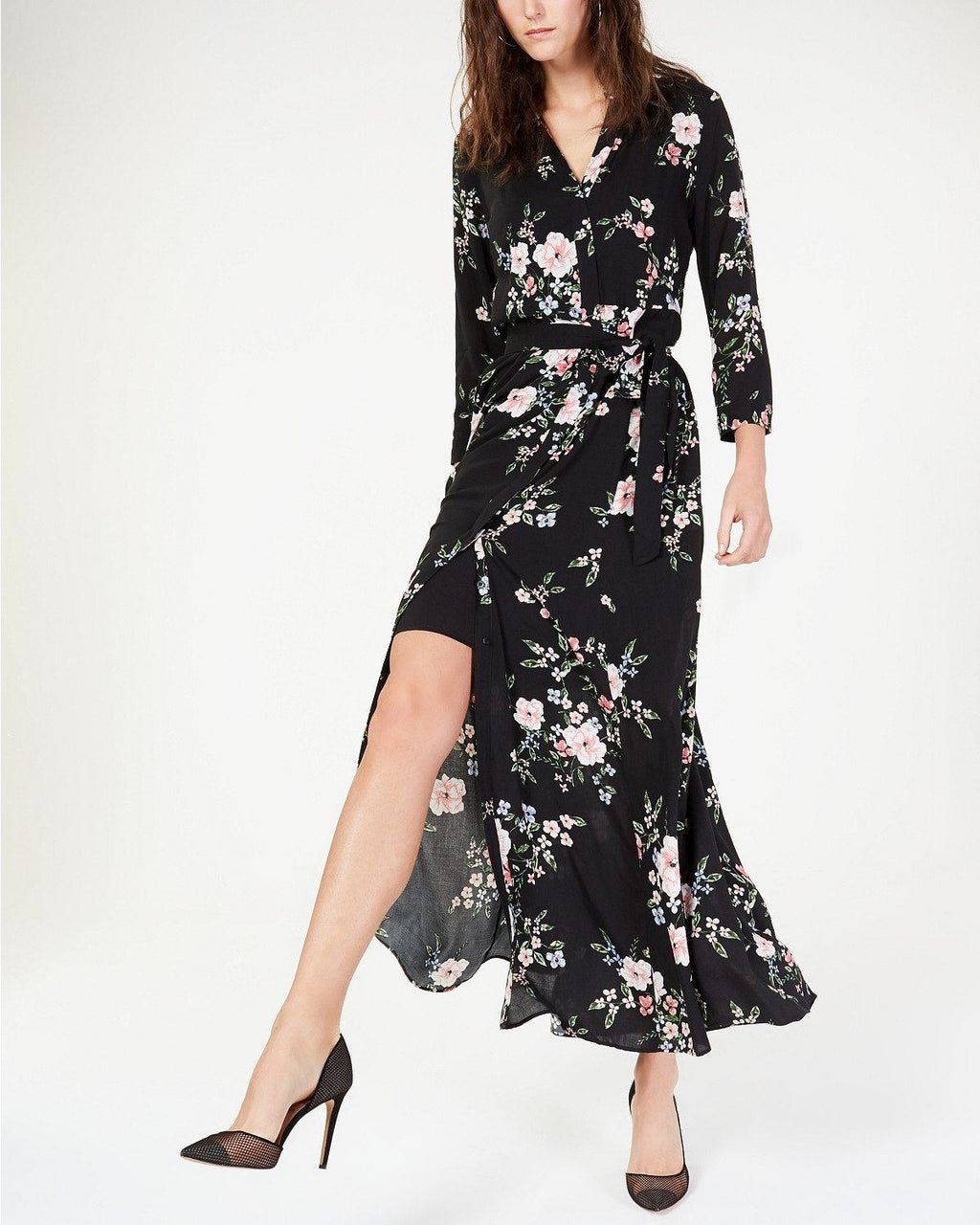 I.N.C. Printed Maxi Shirtdress