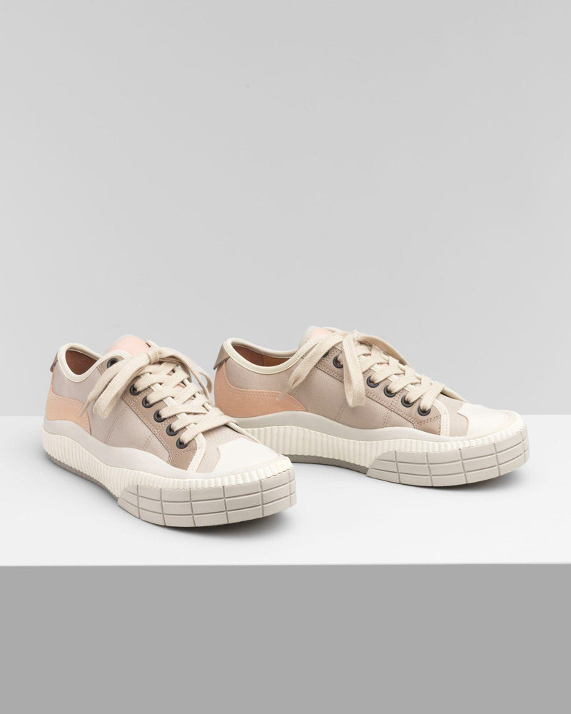 Chloe Clint Low-Top Sneaker In Nylon & Suede Calfskin