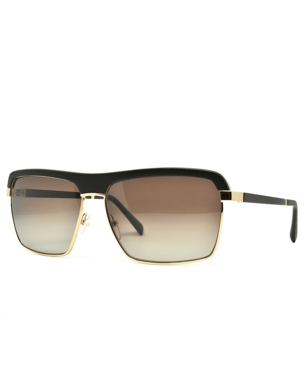 Gold and Wood Palermo Wood/Metal Unisex Luxury Sunglasses