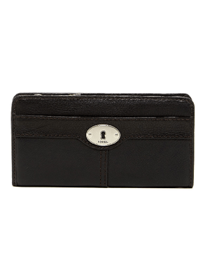 Fossil Marlow Leather Zip Clutch BLACK - Fashionbarn shop - 1