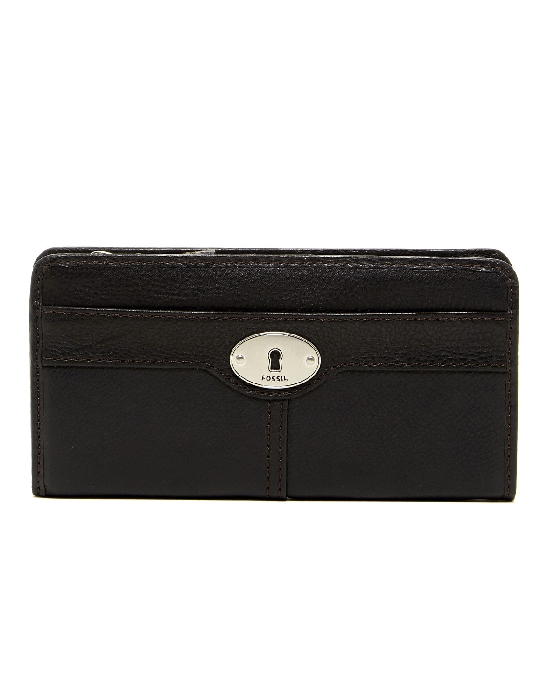 Fossil Marlow Leather Zip Clutch BLACK - Fashionbarn shop - 3