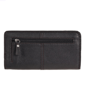 Fossil Marlow Leather Zip Clutch BLACK - Fashionbarn shop - 2