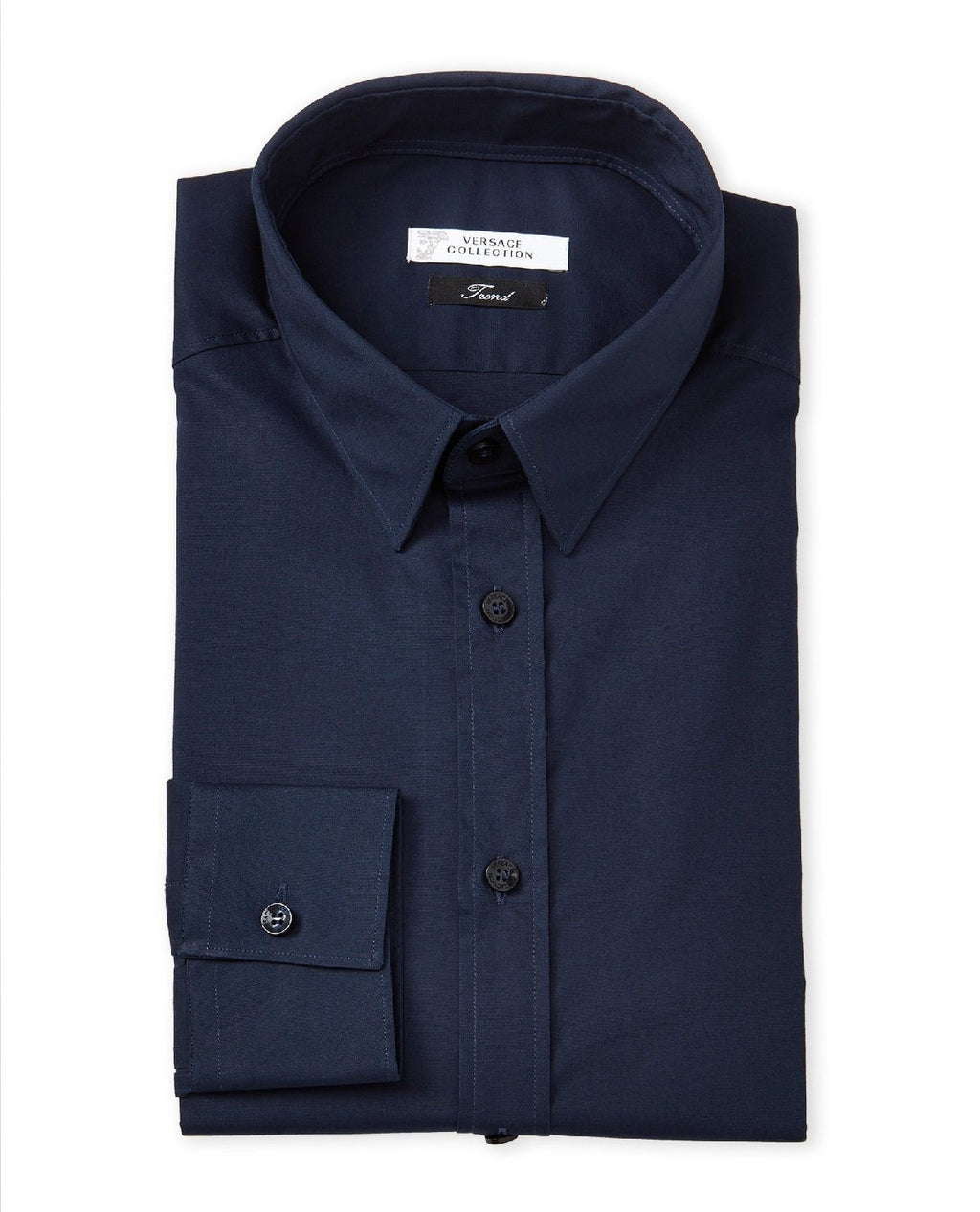 VERSACE COLLECTION City Fit Dress Shirt, Navy