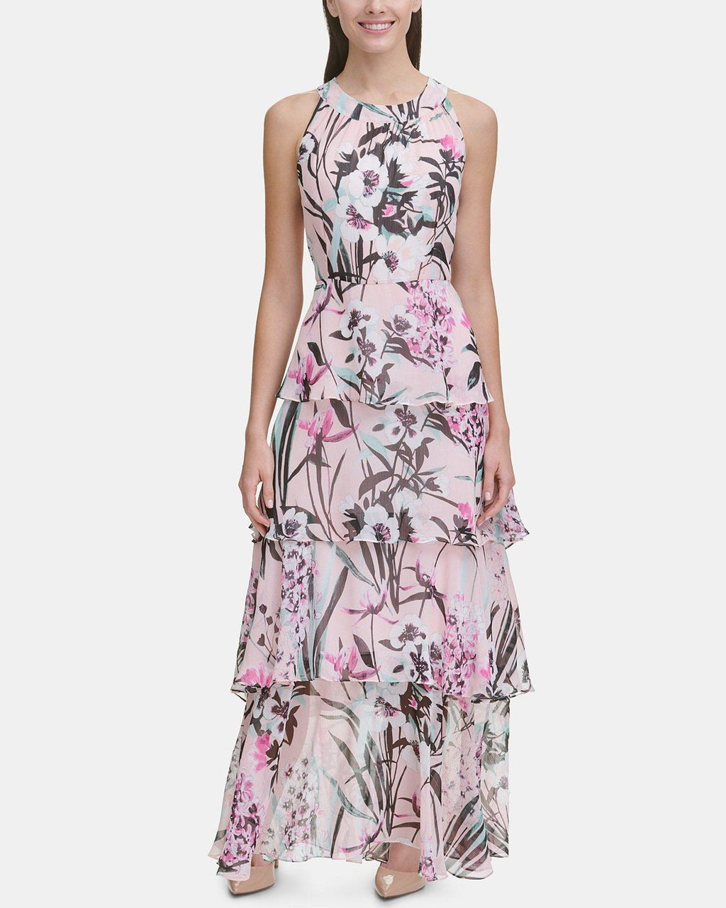 Floral Printed Tiered Maxi Dress