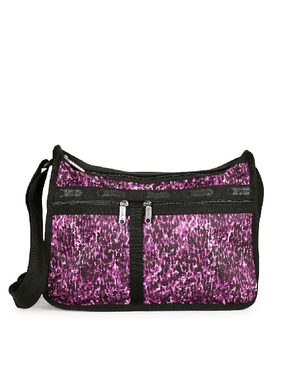 LeSportsac Deluxe Everyday Bag Violet Chettah - Fashionbarn shop - 2