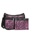 LeSportsac Deluxe Everyday Bag Violet Chettah - Fashionbarn shop - 3