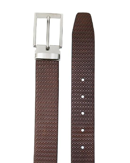 CANALI textured buckle belt