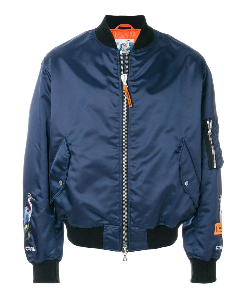 Heron Preston Blue Short Bomber Jacket