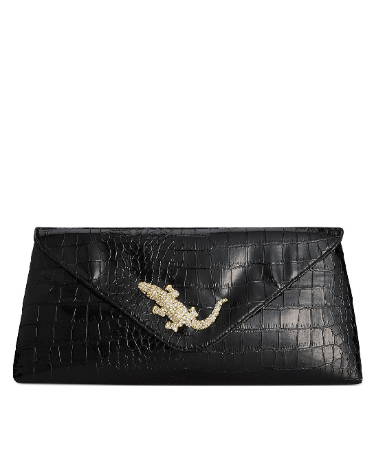 Sasha Croco Printed Alligator Envelope Clutch - Fashionbarn shop - 1