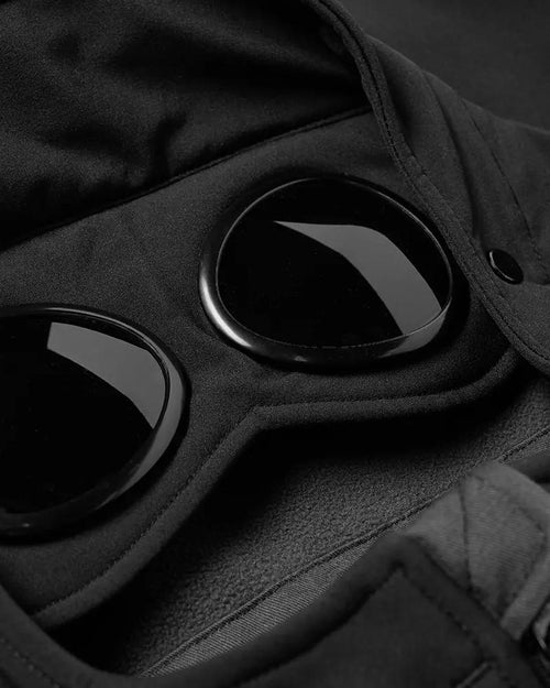 C.P. Company Soft Shell Goggle Jacket, Black
