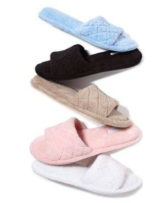 Charter Club Open-Toe Memory Foam Scuff Slippers, Only at Macy's - Fashionbarn shop - 1